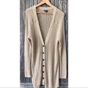GAP Sweaters - GAP Gold Knit Cardigan